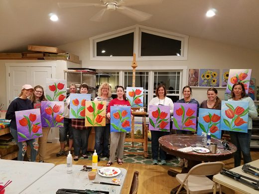 Tulip painting group
