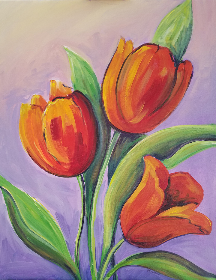 Tulip Trio paint & sip example image
